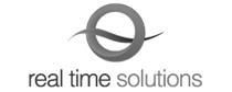 real time solutions website design logo