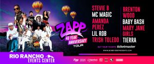 ZAPP, Brenton Wood, Stevie B, MC Magic, Baby Bash, Amanda Perez & More @ Rio Rancho Events Center